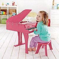 Детский Рояль со стульчиком Hape розовый E0319