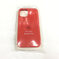 Красный чехол для Iphone 12 Silicone core