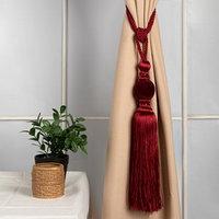 Кисть для штор 'Есения', 78 ± 1 см, цвет бордовый