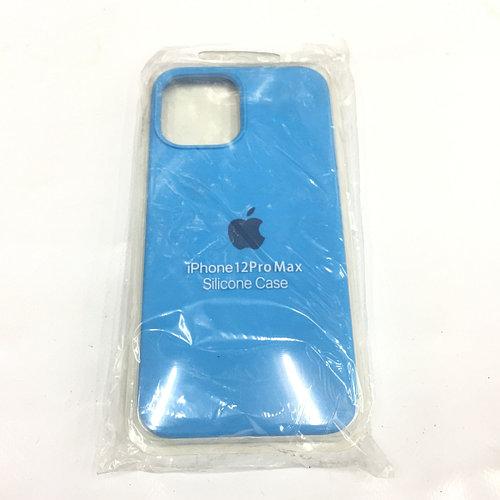Синий чехол для Iphone 12 Silicone core