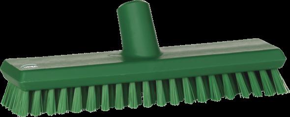 Щетка скребковая поломойная с подачей воды, 270 мм, Очень жесткий, зеленый цвет