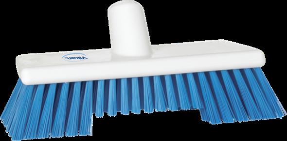 Щетка скребковая поломойная с ворсом двух длин, 245 мм, Жесткий ворс, синий цвет