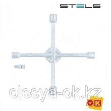 Ключ-крест баллонный 17 х 19 х 21 х 22 мм, с переходником. STELS