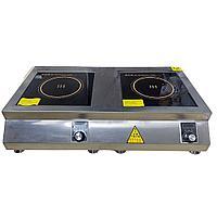Плита индукционная настольная, мощность 5+5 кВт
