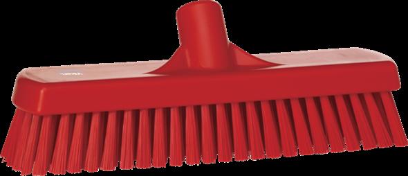 Щетка для мытья полов и стен, 305 мм, Жесткий ворс, красный цвет