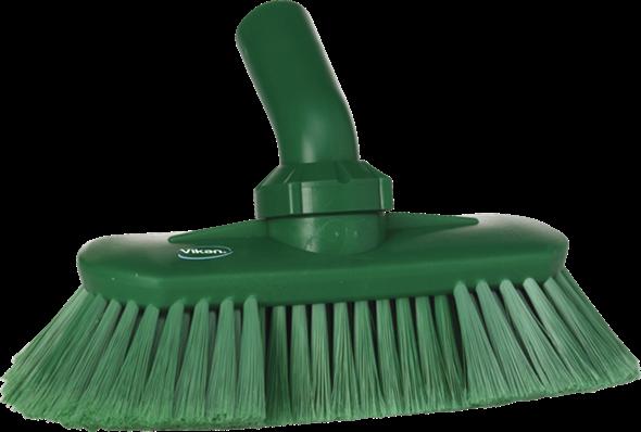 Щетка с подвижным креплением и подачей воды, 240 мм, Мягкий/ расщепленный ворс, зеленый цвет