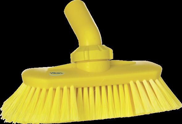 Щетка с подвижным креплением и подачей воды, 240 мм, Мягкий/ расщепленный ворс, желтый цвет