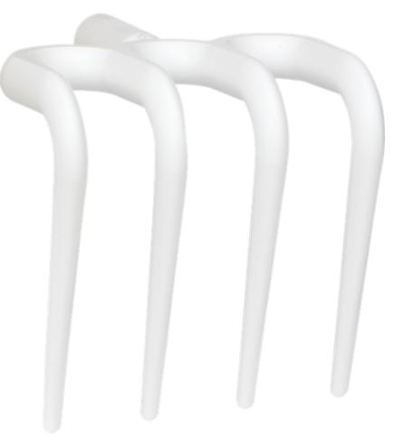 Гигиеничные вилы (рабочая часть), 205 мм, белый цвет