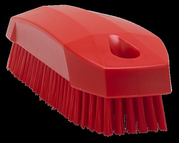 Щетка S для рук / для ногтей, 130 мм, Жесткий ворс, красный цвет