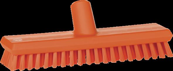 Щетка скребковая поломойная с подачей воды, 270 мм, Очень жесткий, оранжевый цвет