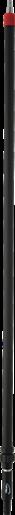 Телескопическая алюминиевая ручка с подачей воды, 1600 - 2780 мм, Ø31 мм, черный цвет