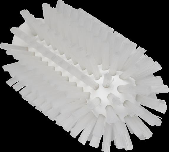 Щетка-ерш для очистки труб, гибкая ручка, диаметр 63 мм, Жесткий ворс, белый цвет