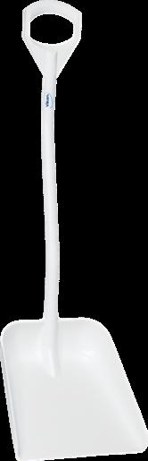 Эргономичная большая лопата с короткой ручкой, 380 x 340 x 90 мм., 1140 мм, белый цвет