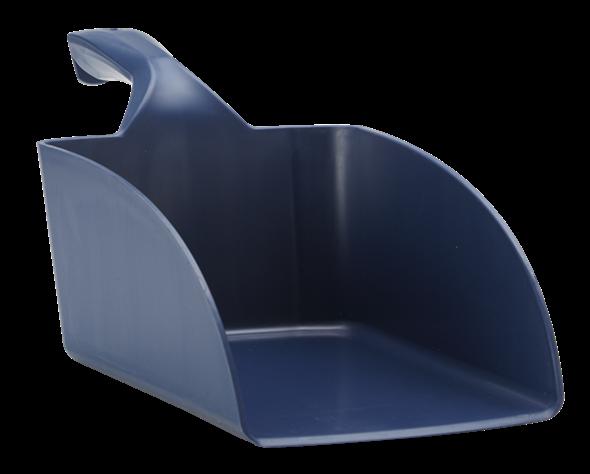 Совок ручной большой из металлопластика, 2 л, металлизированный синий цвет