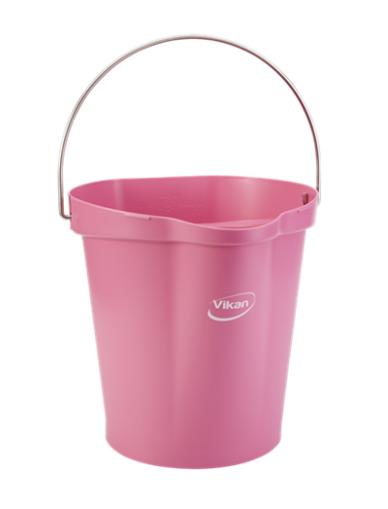 Ведро, 12 л, Розовый цвет