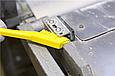 Щётка для чистки деталей, 205 мм, Очень жесткий ворс, желтый цвет, фото 3
