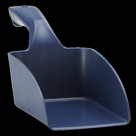 Совок ручной средний из металлопластика, 1 л, металлизированный синий цвет