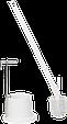 Щетка унитазная с ручкой, 720 мм, средний ворс, белый цвет, фото 2