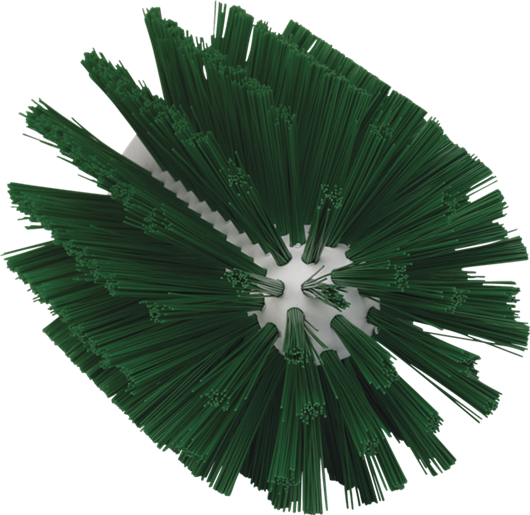 Щетка-ерш для очистки труб, гибкая ручка, диаметр 103 мм, средний ворс, зеленый цвет