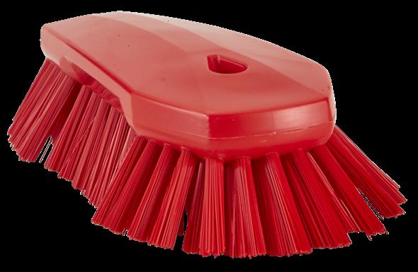 Щетка ручная скребковая, 240 мм, Очень жесткий ворс, красный цвет
