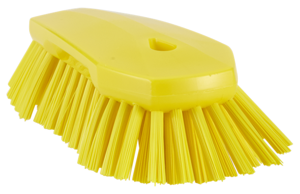 Щетка ручная скребковая, 240 мм, Очень жесткий ворс, желтый цвет