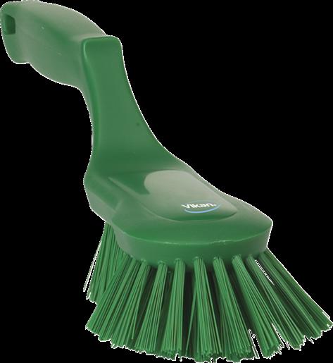 Щетка ручная эргономичная, 330 мм, Жесткий, зеленый цвет