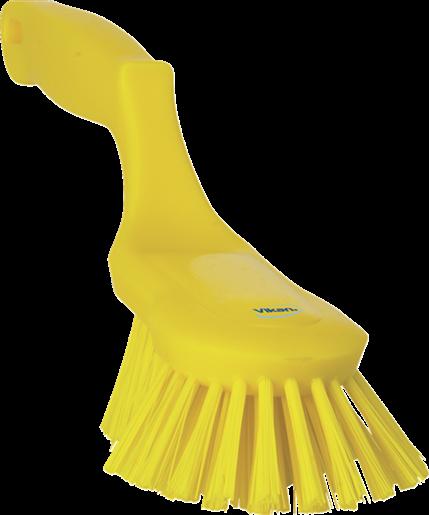 Щетка ручная эргономичная, 330 мм, Жесткий, желтый цвет