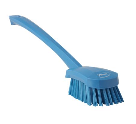 Щетка для мытья с длинной ручкой, 415 мм, средний ворс, синий цвет