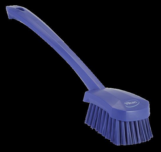 Щетка для мытья с длинной ручкой, 415 мм, Жесткий ворс, фиолетовый цвет
