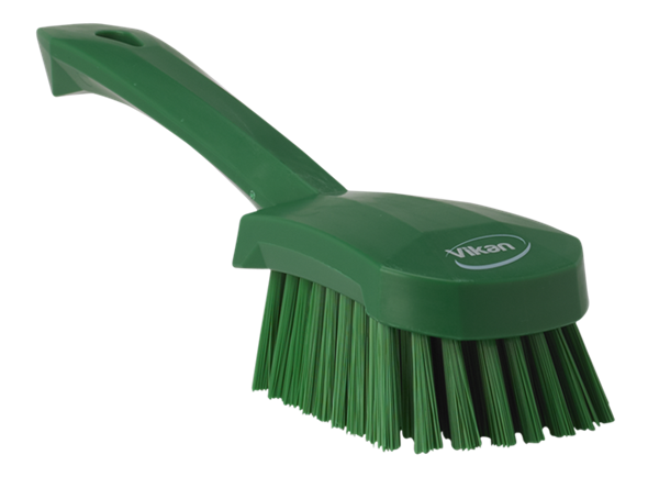 Щетка для мытья с короткой ручкой, 270 мм, средний ворс, зеленый цвет