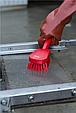 Щетка для мытья с короткой ручкой, 270 мм, средний ворс, красный цвет, фото 2