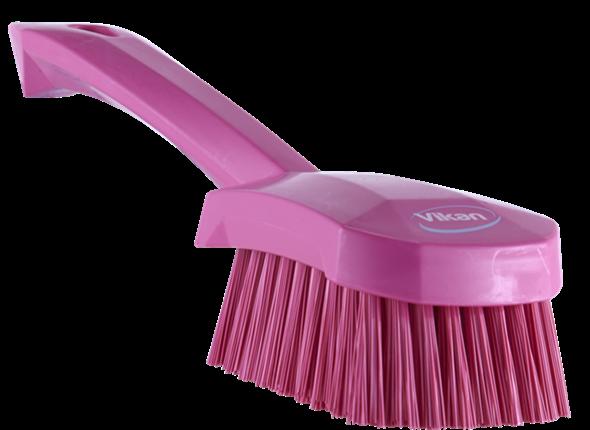 Щетка для мытья с короткой ручкой, 270 мм, Жесткий, Розовый