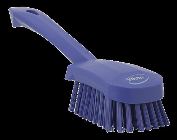 Щетка для мытья с короткой ручкой, 270 мм, Жесткий ворс, фиолетовый цвет