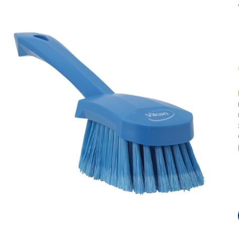 Щетка для мытья с короткой ручкой, 270 мм, Мягкий/расщепленный ворс, синий цвет