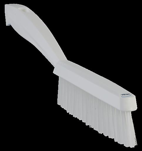 Щетка ручная узкая с короткой ручкой, 300 мм, Очень жесткий ворс, белый цвет