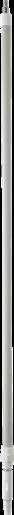Телескопическая ручка с подачей воды, 1615 - 2780 мм, Ø32 мм, белый цвет
