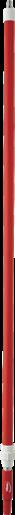 Ручка телескопическая с подачей воды, 1600 - 2780 мм, Ø32 мм, красный цвет