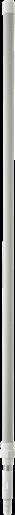 Алюминиевая телескопическая ручка, 1575 - 2780 мм, Ø32 мм, белый цвет