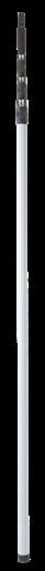 Телескопическая ручка из стекловолокна, 1880 - 6000 мм, Ø34 мм, серый цвет