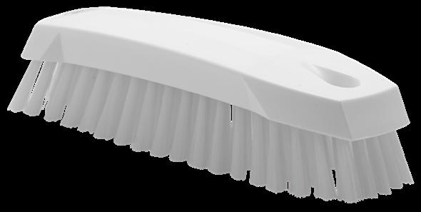 Щетка ручная скребковая, 165 мм, средний ворс, белый цвет