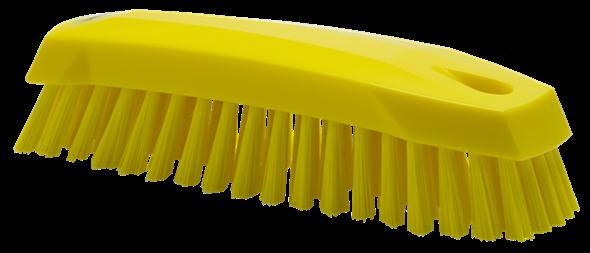 Щетка ручная скребковая, 165 мм, средний ворс, желтый цвет