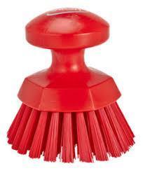 Щетка ручная круглая жесткая, Ø110 мм, Жесткий ворс, красный цвет
