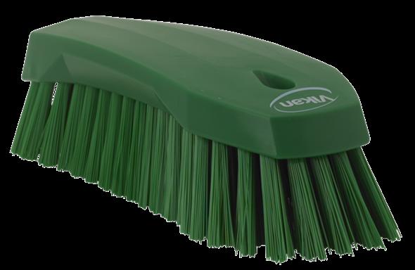 Щетка ручная L, 200 мм, Жесткий ворс, зеленый цвет
