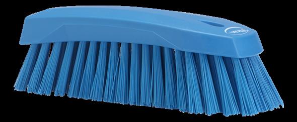 Щетка ручная L, 200 мм, Жесткий ворс, синий цвет