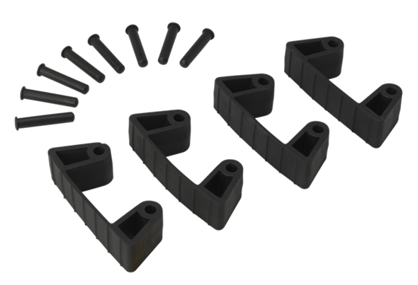 Резиновый зажим 4 шт. к настенным креплениям арт. 1017 и 1018, 120 мм, черный цвет