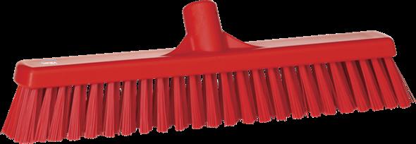 Щетка  для подметания с комбинированным ворсом, 410 мм, Мягкий/жесткий, красный цвет