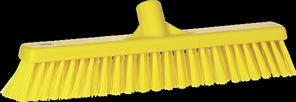Щетка  для подметания с комбинированным ворсом, 410 мм, Мягкий/жесткий, желтый цвет