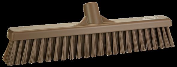 Щетка  для подметания с комбинированным ворсом, 410 мм, Мягкий/жесткий, коричневый цвет