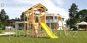 Детская площадка Савушка Мастер 5, игровая башня, шведская стенка, рукоход, турник.