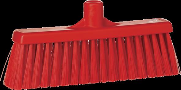 Щетка для подметания с прямой соединительной частью, 310 мм, средний ворс, красный цвет